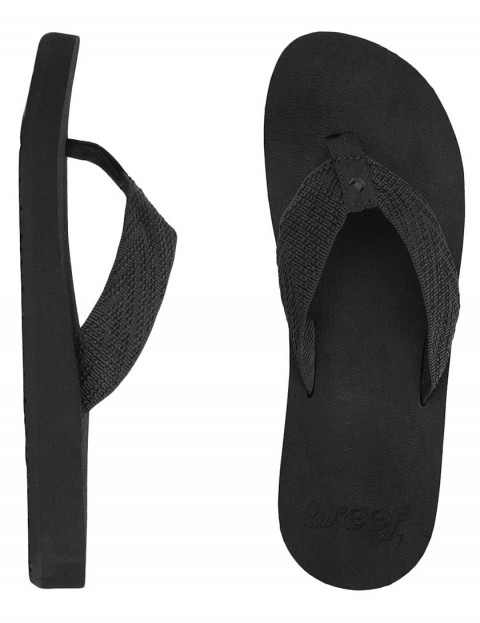 Reef Sandy Love ladies flip flops - Black/Black