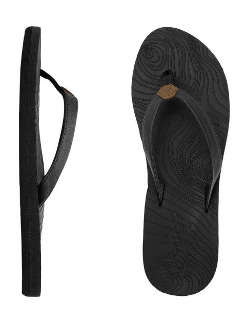 Reef Zen Love Ladies Flip flops - Black/Black