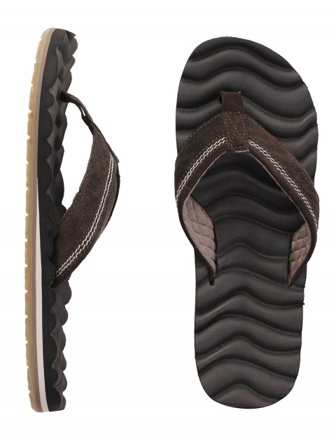 Reef Swellular Cushion 3D Leather Flip flops - Brown