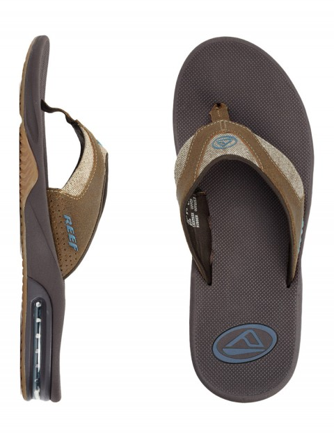 Reef Fanning TX Flip flops - Dark Brown/Gum