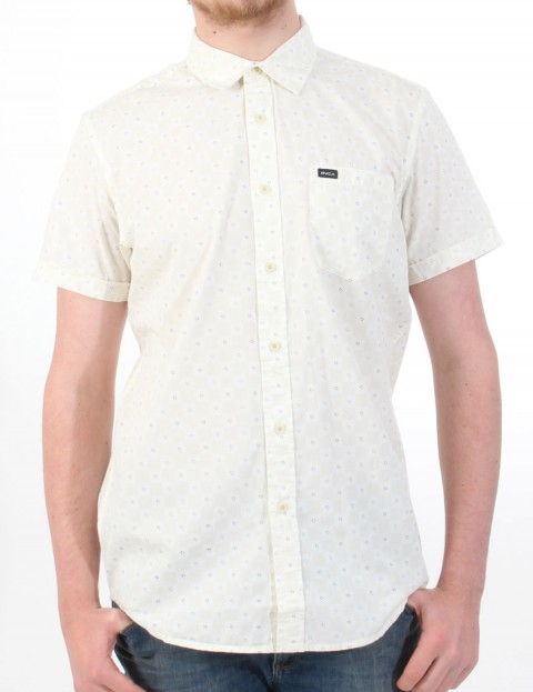 RVCA Satisfaction Short Sleeve Shirt - Vanilla