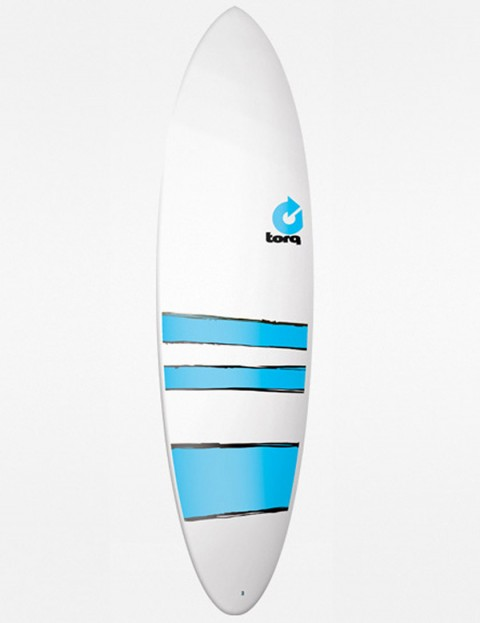 Torq Mod Fun Surfboard 6ft 8 - Blue Bands