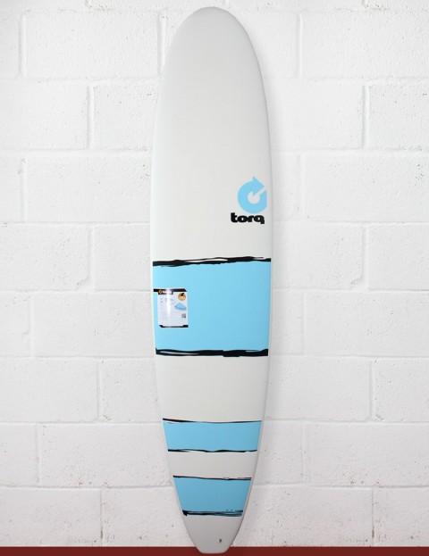 Torq Surfboards Mini Long Surfboard 8ft - Blue Bands