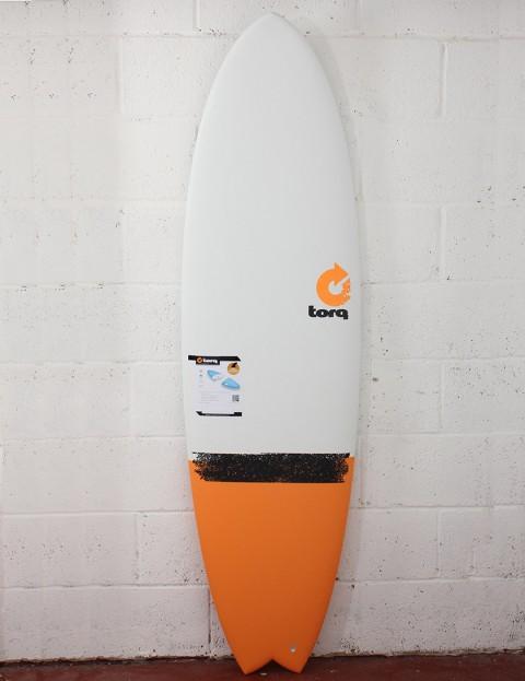 Torq Surfboards Mod Fish Surfboard 6ft 3 - Orange Taildip