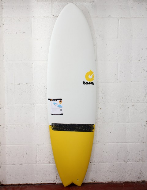 Torq Surfboards Mod Fish Surfboard 6ft 6 - Yellow Taildip
