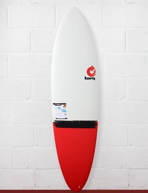 Torq Surfboards Mod Fun Surfboard 6ft 8 - Red Taildip
