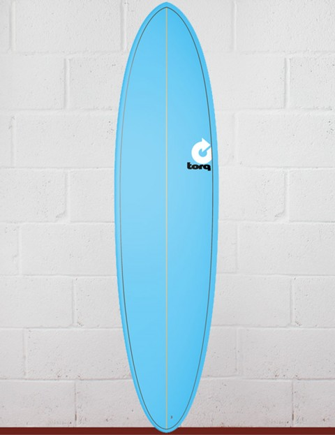 Torq Surfboards Mod Fun Surfboard 7ft 2 - Blue Fade Pinline