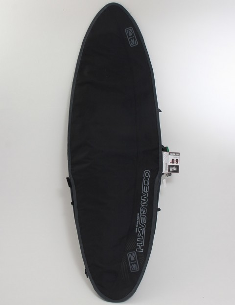 Ocean & Earth Aircon Heavyweight Fish Cover 10mm Surfboard bag 6ft - Black