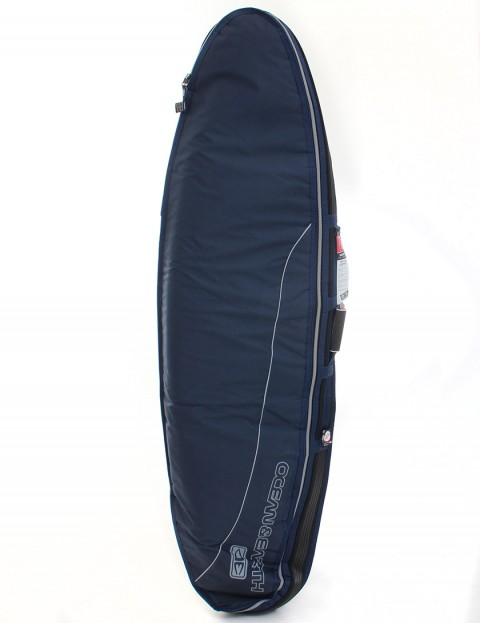 Ocean & Earth Double Compact Shortboard 10mm Surfboard bag 6ft 8 - Navy Blue