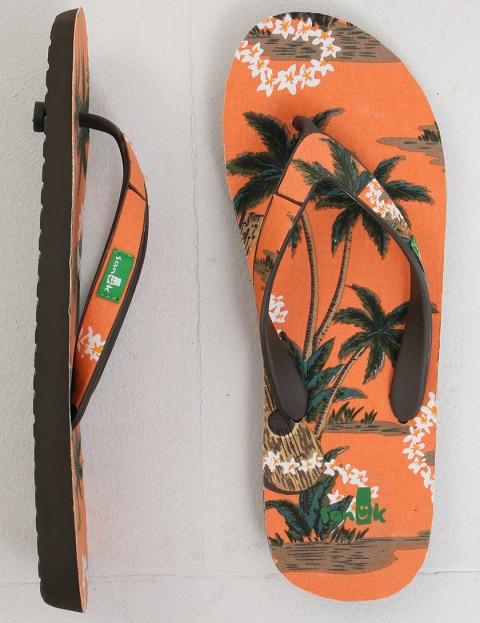 Sanuk Kona Flip flop - Orange