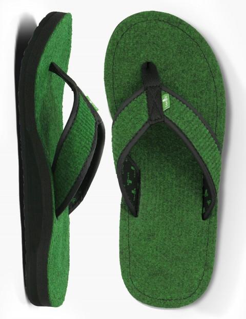 Sanuk Fur Real Cozy Sandal - Green