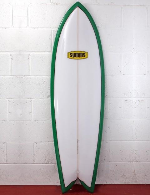 Symms Surfboards Retro Fish Surfboard 6ft 1 - Emerald Green Resin Tint