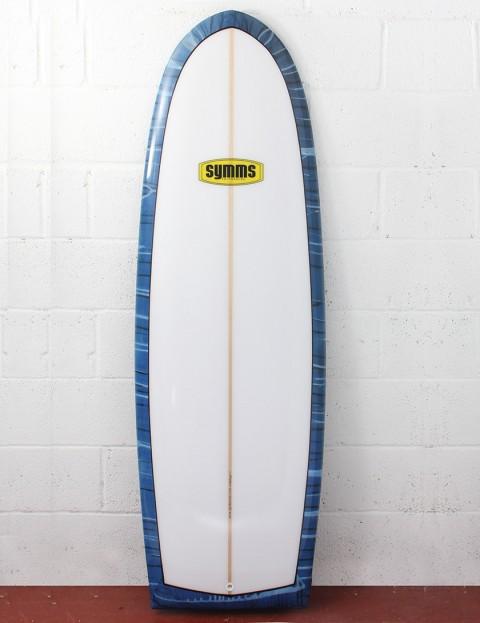 Symms Surfboards Spoon Surfboard 6ft 0 - Ultramarine Blue/Black/White