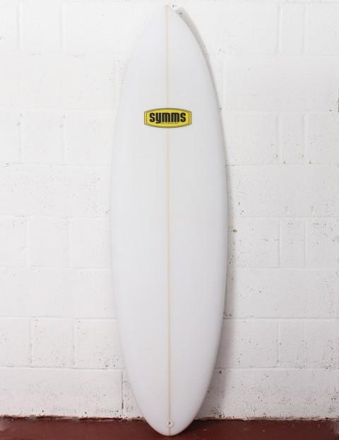 Symms Surfboards Teabag Surfboard 6ft 0 FCS II - White