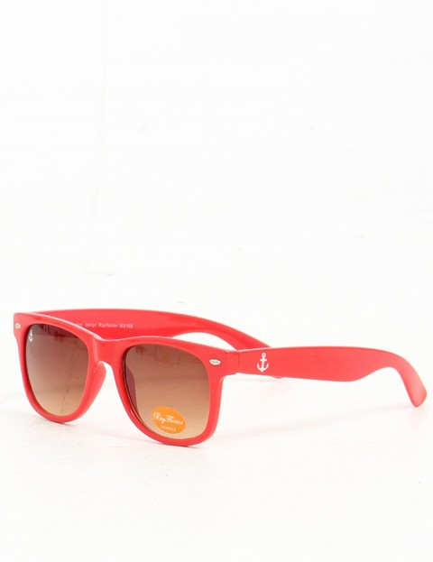 Hold Fast Boomer Sunglasses - Red Gloss