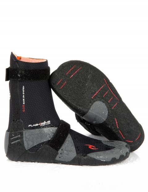 Rip Curl Wetsuits Flash Bomb 7mm Round Toe Wetsuit boots - Black