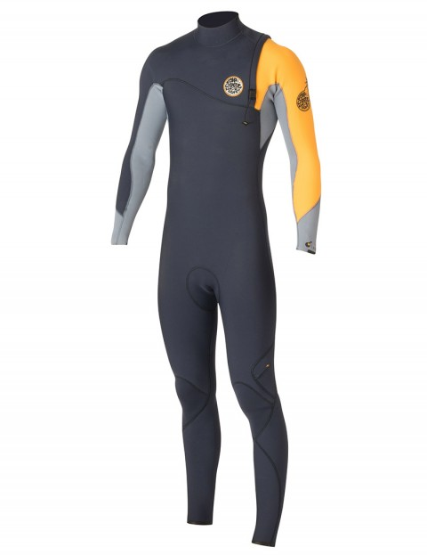 Rip Curl Wetsuits Flash Bomb Zip Free 5/3mm Winter 2015/16 - Slate