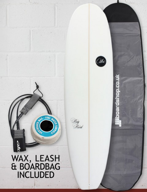 ABC Big Bird surfboard package 7ft 4 - White