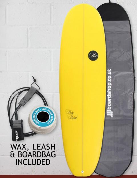 ABC Big Bird surfboard package 7ft 4 - Yellow