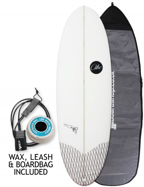 ABC Fire Squid surfboard package 5ft 7 - White
