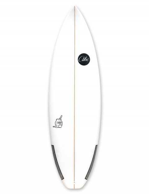 ABC Custard Mustard surfboard 6ft 2 - White