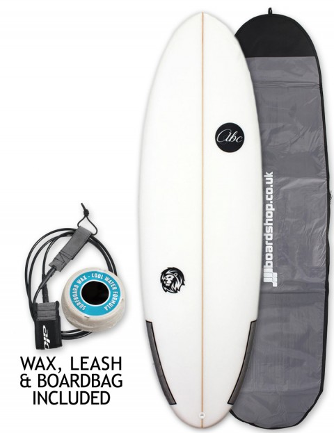 ABC Wild Cat surfboard package 6ft 3 - White