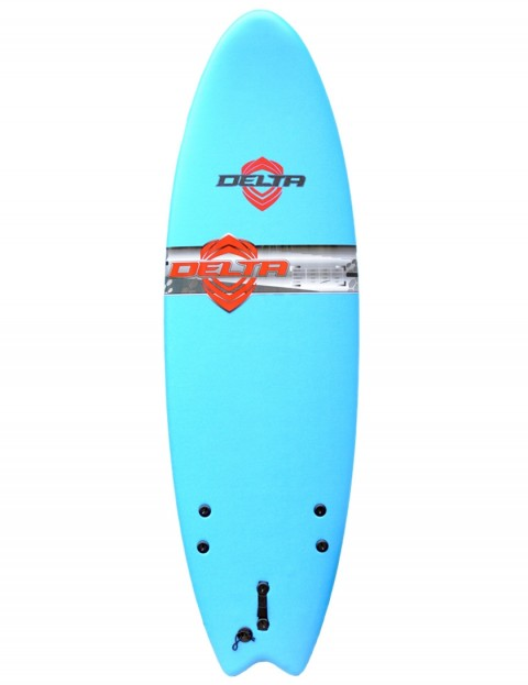 Alder Comp Fish Foam Kids Surfboard 5ft 6 - Sky Blue