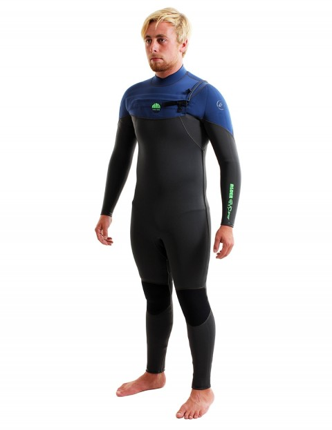 Alder Evo Fire Chest Zip 5/4/3mm Wetsuit 2018 - Blue
