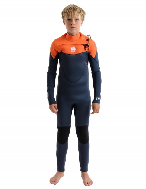 Alder Boys Pyro Chest Zip Wetsuit 5/4/3mm 2019 - Orange