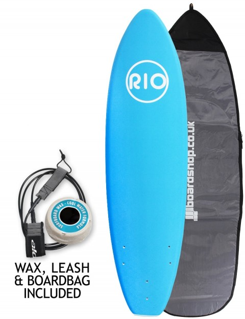 Alder Rio Soft Surfboard package 6ft 0 - Blue