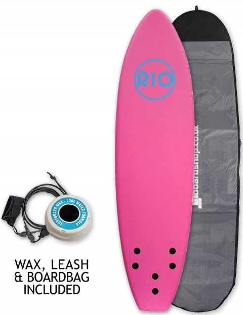 Alder Rio Soft Surfboard 6ft Package - Pink