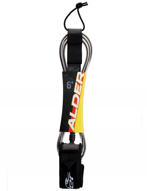 Alder Ultra Surf 6ft surfboard leash - Black