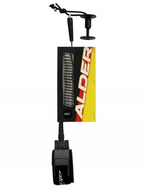 Alder Ultra Coil Wrist bodyboard leash - Black