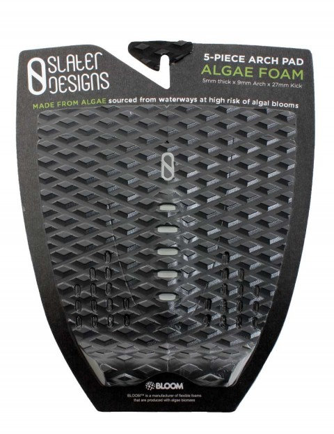 Slater Designs 5-Piece Surfboard Tail Pad - Black