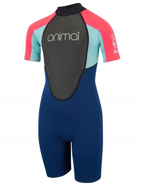Animal Girls Nova 3/2mm Shorty wetsuit 2018 - Dark Navy