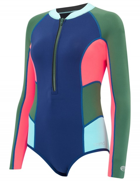 Animal Ladies Alexa Gem Long Sleeve Shorty 2mm wetsuit 2018 - Dark Navy