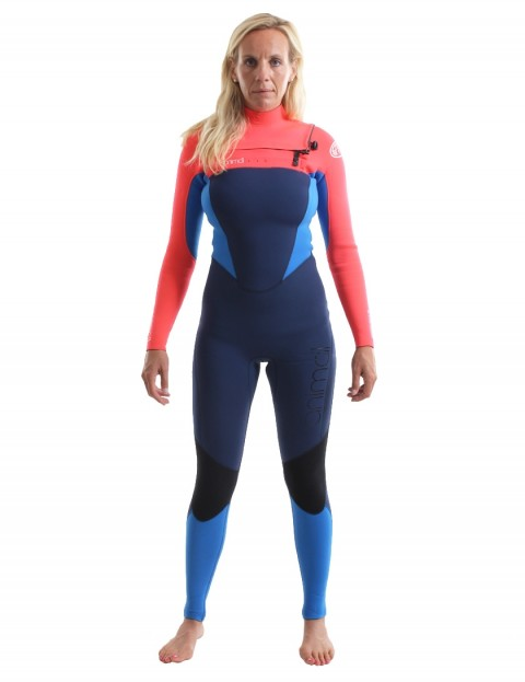 Animal Ladies Phoenix Chest Zip 5/4/3mm Wetsuit 2018 - Dark Navy