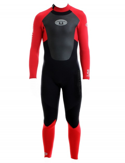 Animal Lava Back Zip 5/4/3mm Wetsuit 2017 - Bright Red