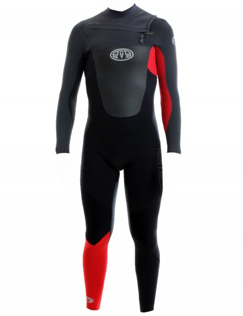 Animal Lava Chest Zip 5/4/3mm Wetsuit 2017 - Bright Red