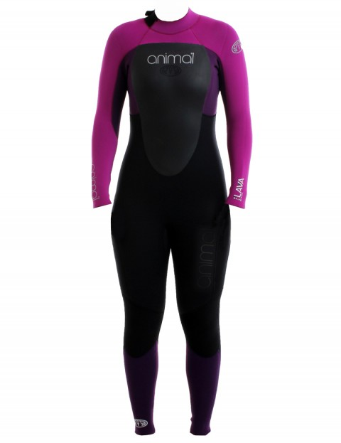 Animal Ladies Lava Back Zip 5/4/3mm Wetsuit 2017 - Purple