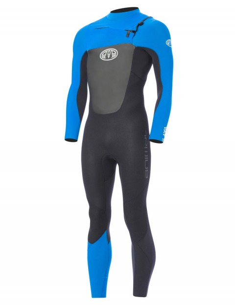 Animal Lava Chest Zip 3/2mm Wetsuit 2017 - Aster Blue