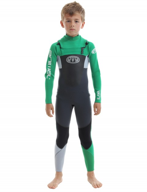 Animal Boys Lava Chest Zip 3/2mm Wetsuit 2017 - Bright Green