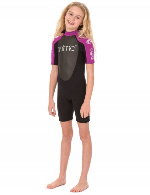 Animal Girls Nova Shorty 3/2mm wetsuit 2017 - Indian Berry Pink