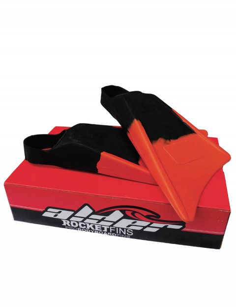 Alder Rocket bodyboarding fins - Black/red