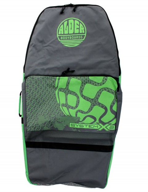 Alder System X2 44 inch Two Board Bodyboard bag - Grey/Green