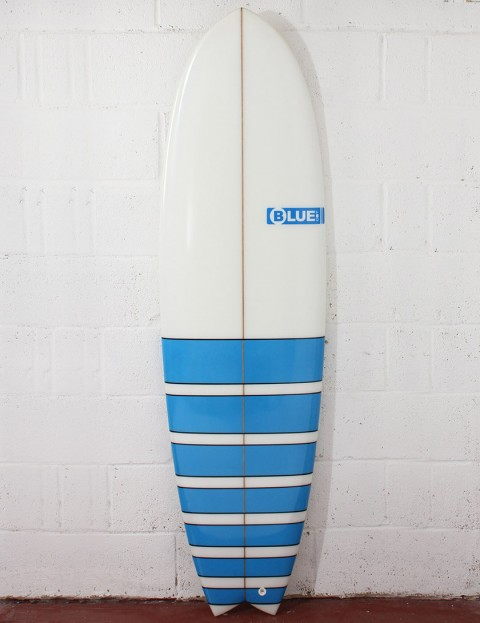 Blue Dot Fish Surfboard 6ft 3 - Light Blue Bars