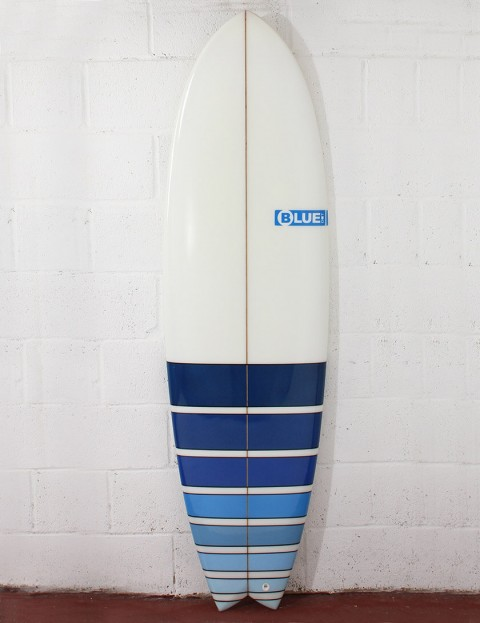 Blue Dot Fish surfboard 6ft 6 - Blue Fade Bars