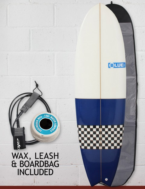 Blue Dot Fish Surfboard Package 6ft 9 - Blue/Checkerboard