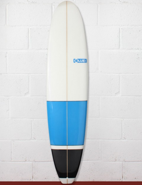 Blue Dot Mini Mal Surfboard 7ft 6 - Blue/Black Blocks