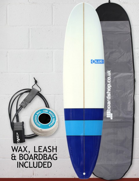 Blue Dot Mini Mal Surfboard 7ft 6 Package - Blues